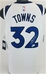 Karl-Anthony Towns Signed Nike Swingman Minnesota Timberwolves White Jersey (JSA COA)