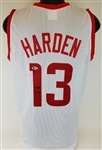 James Harden Signed Houston Custom White Jersey (Beckett Witness COA)