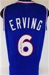 "Julius ""Dr. J"" Erving Signed Custom Blue Jersey (JSA Witness COA)"