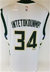 Giannis Antetokounmpo Signed Milwaukee Bucks Adidas NBA Jersey (JSA COA)