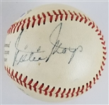 Willie Mays & Ed Kranepool Dual Signed Wilson Official Major League Specifications Baseball w/ Vintage Mays Autograph (PSA/DNA LOA)