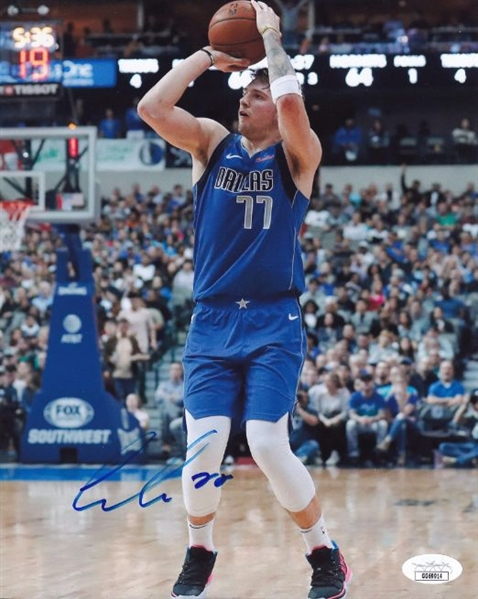 Luka Doncic Signed Dallas Mavericks 8x10 Photo (JSA COA)