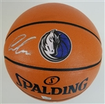 Luka Doncic Signed Dallas Mavericks Spalding NBA Game Ball Series Logo Basketball (Fanatics Certified)