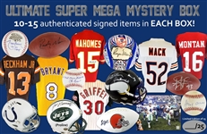 Ultimate Super Mega Mystery Box! 10-15 Autographed Items in Every Box! Limited to only 25 Boxes! Roger Maris, Patrick Mahomes, Kobe Bryant & So Much More!
