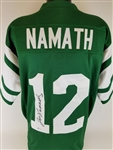 Joe Namath Signed New York Jets Custom Jersey (Beckett COA)