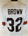 Jim Brown Signed Cleveland Browns Custom Jersey (JSA COA)
