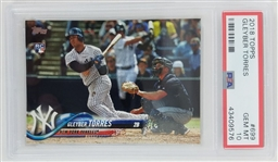 Gleyber Torres New York Yankees 2018 Topps Super Short Print (SSP) Rookie Baseball Card - Graded Gem Mint 10! (PSA)