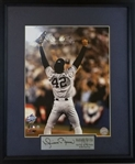 "Mariano Rivera ""HOF 2019"" Signed New York Yankees 1998 World Series Photo in 17x20 Framed Display (Steiner Certified)"