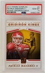 Patrick Mahomes II Kansas City Chiefs 2017 Donruss Rookie Gridiron Kings Rookie Football Card - Graded Gem Mint 10! (PSA)
