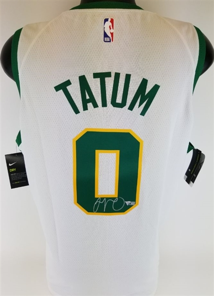 Jayson Tatum Signed Boston Celtics Nike Dri-Fit NBA Swingman Jersey (Fanatics Certified)