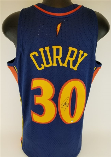 Stephen Curry Signed Golden State Warriors Mitchell & Ness 2009-10 Hardwood Classics Swingman Jersey (Steiner COA)