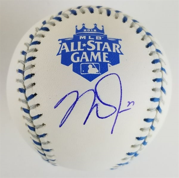 Mike Trout Signed Official 2012 MLB All-Star Game Baseball - Trouts First All-Star Game Appearance (MLB Certified)