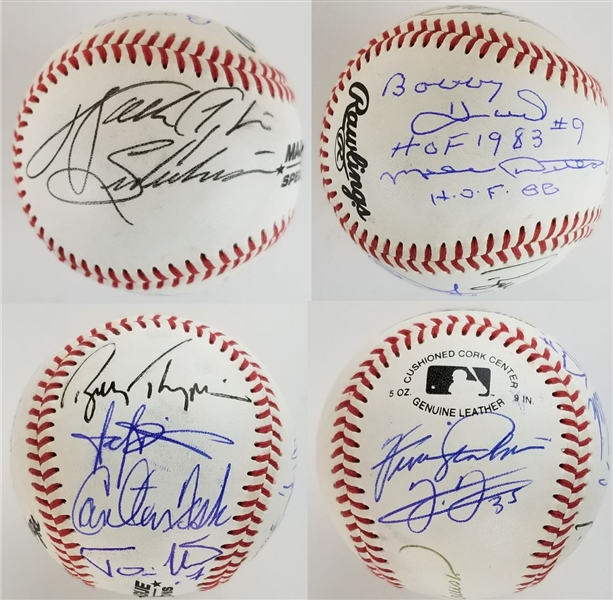 Walter Payton, Carlton Fisk, Frank Thomas, Bobby Hull, Mike Ditka, Andre Dawson & Others Signed Chicago Sports Legends Baseball w/ 10 Total Sigs (JSA LOA)