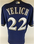 "Christian Yelich ""2018 - .326 BA 36 HR 110 RBI"" Signed Milwaukee Brewers Authentic Majestic MLB FlexBase Jersey (MLB & Steiner Certified)"