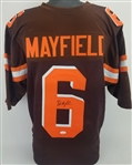 Baker Mayfield Signed Cleveland Browns Custom Jersey (JSA Witness COA)