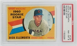Dick Ellsworth Chicago Cubs 1960 Topps Rookie Baseball Card #125 - Graded NM-MT 8 (PSA)