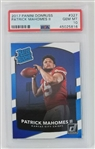 Patrick Mahomes II Kansas City Chiefs 2017 Donruss Rookie Football Card #327 - Graded Gem Mint 10! (PSA)
