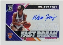 Walt Frazier New York Knicks 2018 Optic Fast Break Signatures Autograph Basketball Card #FB-WFZ