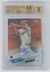Shohei Ohtani Los Angeles Angels 2018 Topps Chrome Freshman Flash Orange Refractor Lmt. Ed Autograph Baseball Card - Graded Gem Mint 9.5/10 (BGS)