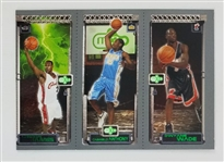 Lebron James, Carmelo Anthony, and Dwyane Wade 2003 Topps Matrix Rookie Basketball Card