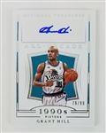 Grant Hill Detroit Pistons 2018 National Treasures All-Decade Lmt. Ed Autograph Basketball Card #AD-GHL - #79 of 99