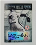 Whitey Ford New York Yankees 2001 Donruss Signature Series Milestone Marks Autograph Baseball Card
