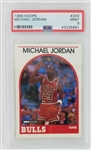 Michael Jordan Chicago Bulls 1989 Hoops Basketball Card #200 - Graded Mint 9 (PSA)