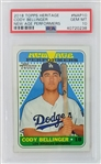 Cody Bellinger Los Angeles Dodgers 2018 Topps Heritage New Age Performers Baseball Card #NAP10 - Graded Gem Mint 10! (PSA)