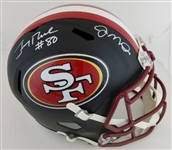 Joe Montana & Jerry Rice Dual Signed Full Size Replica San Francisco 49ers Helmet (Beckett Witness COA)