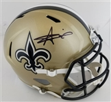 Alvin Kamara Signed Full Size Replica New Orleans Saints Speed Helmet (JSA Witness COA)