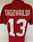 Tua Tagovailoa Signed Alabama Crimson Tide Custom Jersey (Beckett COA)