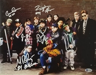 The Mighty Ducks Cast Signed 11x14 Photo w/ 6 Sigs - (Beckett Witness COA)
