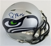 D.K. Metcalf Signed Seattle Seahawks Amp Alternate Mini Helmet (JSA Witness COA)