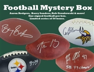 Autographed Football Mystery Box - 1 Autographed Football Per Box - Limited To Only 50! Aaron Rodgers, Barry Sanders, Gronk & More