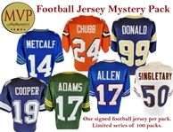 Football Jersey Mystery Pack - Limited to 100 - 1 Autographed Jersey Per Pack