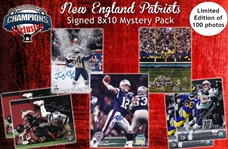 New England Patriots 8x10 Photo Mystery Pack - Tom Brady, Gronkowski, Edelman & More! - 1 Autographed Photo Per  - Limited to 100!