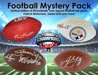 Patrick Mahomes Super Bowl LIV Autographed Football Mystery Pack - Limited To Only 50! 1 Ball Per Pack - Mahomes and more!
