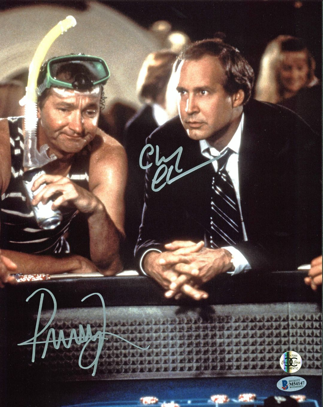 Chevy Chase And Randy Quaid In Vegas Vacation 1997: Chevy Chase & Randy Quaid Signed Vegas