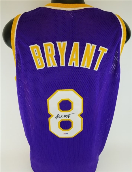 Kobe Bryant Vintage Full Name Signature Signed Custom Jersey (PSA/DNA COA)