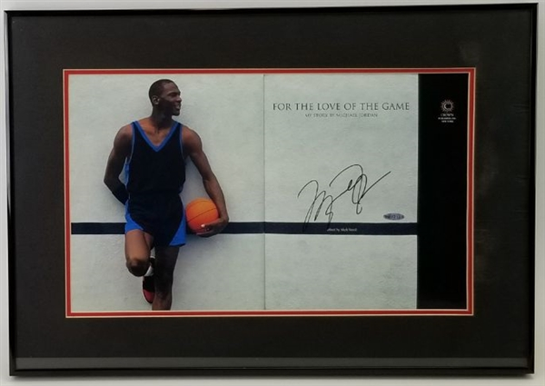 Michael Jordan Signed For The Love Of The Game Book Page Framed (UDA COA)