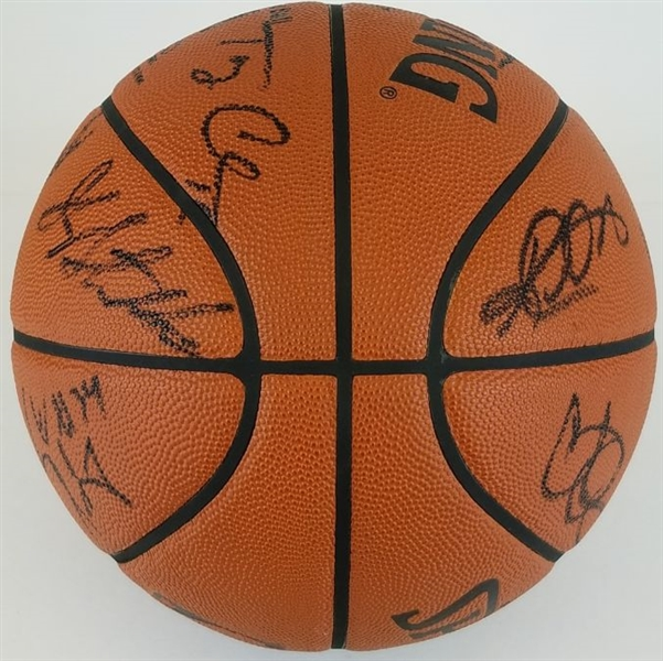 Karl Malone, John Stockton, Jerry Sloan (20 Total) 2002-03 Utah Jazz Team Signed Official Spalding NBA Game Ball Basketball (JSA LOA)