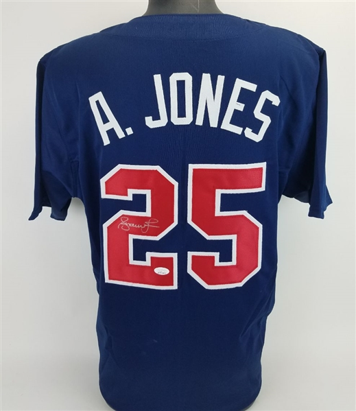 Andruw Jones Signed Atlanta Braves Custom Jersey (JSA Witness COA)