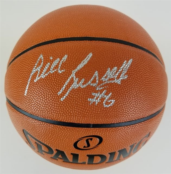 "Bill Russell ""#6"" Signed Spalding NBA Game Ball Series Basketball (PSA/DNA ITP COA)"