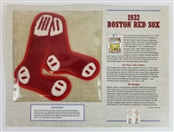 1932 Boston Red Sox Cooperstown Collection Baseball Willabee & Ward Team Patch Card