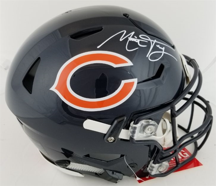 Mitch Trubisky Signed Full Size Authentic Chicago Bears On Field SpeedFlex Helmet (Fanatics Certified)