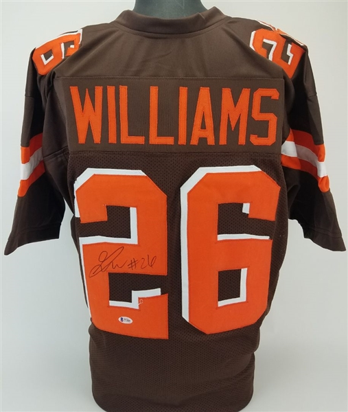 Greedy Williams Signed Cleveland Browns Custom Jersey (Beckett Witness COA)