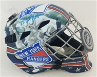 Mike Richter Signed New York Rangers NHL Goalie Mask (JSA Witness COA)