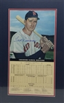 Ted Williams Signed Lmt Ed. Boston Red Sox 14x22 Matted Print Display w/ Career Stats Card (Beckett LOA)