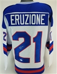 Mike Eruzione Signed 1980 Team USA Hockey Custom Jersey (JSA Witness COA)