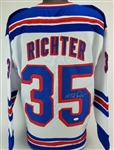 Mike Richter Signed New York Rangers Custom Jersey (JSA Witness COA)